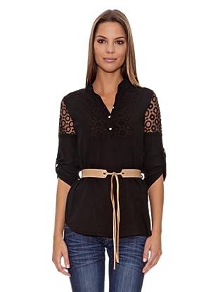 Assuili Camisa Túnica (Negro)
