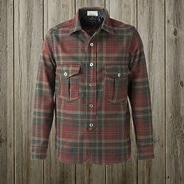 40s W-Pocket Work Shirt SN-12FW-54: Red