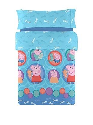 Peppa Pig Juego de Funda Nórdica Peppa Circles (Azul)