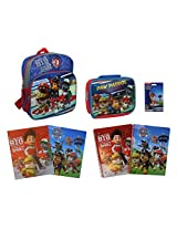 """Nickelodeon Paw Patrol Ultimate Back to School 14"""" Backpack Bundle with Lunch Tote, Folders, Noteboo"""