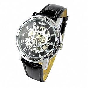 ESS Self-Wind Up Mechanical Men's Black Dial Watch
