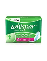 Whisper Ultra Sanitary Pads - Extra Large Wings (7 Piece Pack)