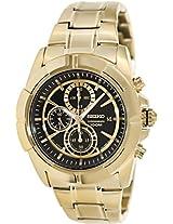 Seiko Chronograph Black Dial Gold-tone Men's Watch (SNDE74)