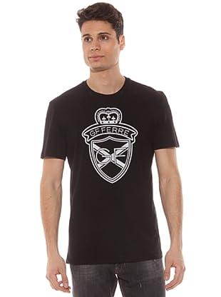 Gianfranco Ferré Camiseta Estampado Logo (Negro)