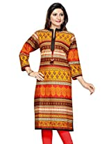 Printed Long Kurtis(Size : XXX-Large)