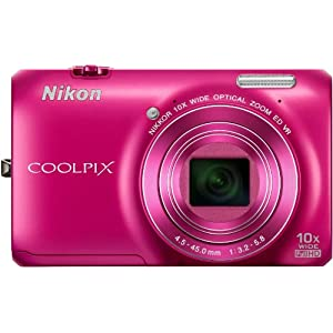 Nikon COOLPIX S6300 16 MP Digital Camera-Pink