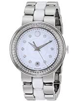 Movado Cerena Stainless Steel Diamond Ladies Watch 606625
