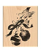 "Penny Black Mounted Rubber Stamp 3.25""X4"" Ornaments & Ribbon"