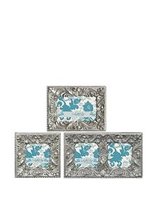 3-Piece Virtual Love Frame Set (Distressed Silver)