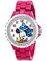 Disney Women's W000922 Minnie Pink Enamel Sparkle Watch