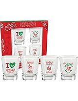 Aquarius Sriracha Shot Glass Set