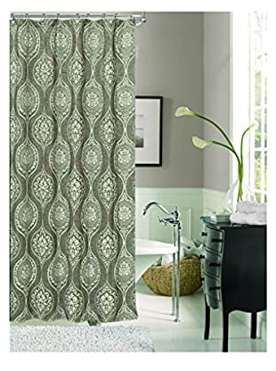 Cay Trading Dainty Home Monaco Fabric Shower Curtain, Silver