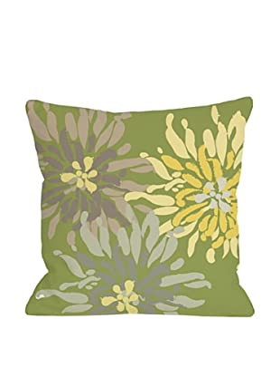 One Bella Casa Lowell Floral 18x18 Outdoor Throw Pillow (Green Naturals)