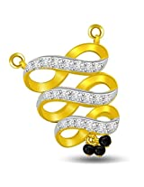 Two Tone Swirl & Bow Diamond & Gold Mangalsutra