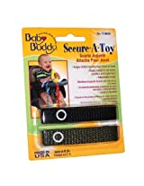 Baby Buddy 2 Count Secure-A-Toy, Black/Olive