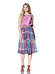 Gregory Parkinson Women's Silk Cotton Voile Skirt (Purple)