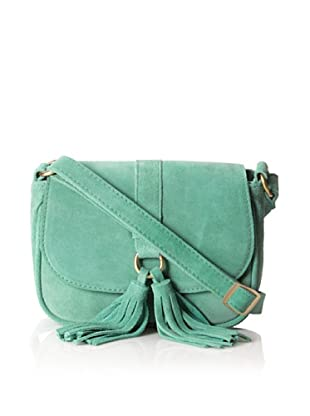 Zenith Women's Carrie Suede Cross-Body with Tassel (Green)