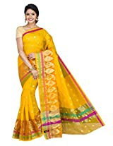 Korni Cotton Silk Banarasi Saree ISL-664- Yellow KR0433