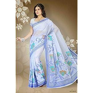 Ashika Cotton Saree in Sea Blue Colour 6662