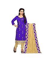 Triveni Women's Chanderi Blended Cotton,Silk Salwar Kameez Dress Material (TSTZSK1375...