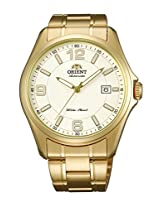 Orient Classic Automatic Men Cream Dial Golden Metal Strap Round Shape, Made in Japan