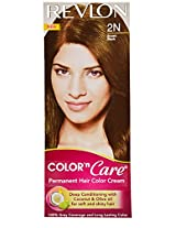 Revlon Color N Care Permanent Hair Color Cream, Brown Black 2N