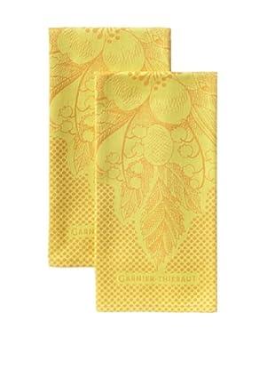 Garnier-Thiebaut Set of 2 Bunny Kitchen Towels, Candy