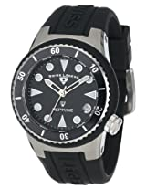 Swiss Legend Watches, Women's Neptune (40 mm) Black Dial Black Silicone, Model 11840D-01