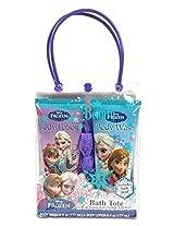 Disney FROZEN Bath Tote Body Lotion; Body Wash; Bath Pouf