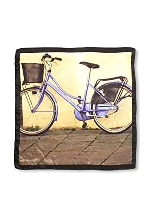 CHIC Women's Bicycle Digital Square Silk Scarf, Bike, One Size