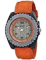 Sprout Unisex St3001Gygyor Corn Resin Orange Organic Cotton Strap Watch