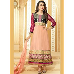 Valuze Karishma Kapoor Kalidar Anarkali Suit - Peach