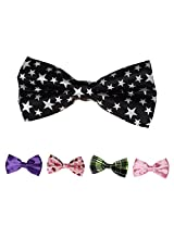 DBFF0008 Multicolored Satin Fashionon Polyster Boys Boys Pre-Tied Bow Ties Set - 5 Styles Available By Dan Smith