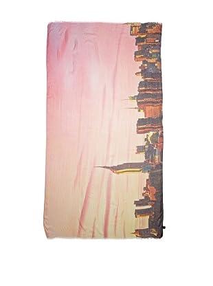 CHIC Women's NYC Skyline Digital Woven Viscose Scarf, Multi, One Size