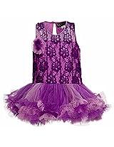 Lil Poppets Girls' Lace Tutu Dress T Back [Lilpoppets-005_Purple_(9-10 Years)]