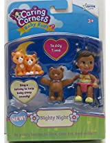 Caring Corners Baby Buds Girl With Teddy Bear And Cats Nighty Night Figures