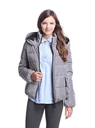 French Connection Women's Hooded Down Jacket (Ice Grey)