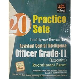 20 Practice Sets for Intelligence Bureau (Assistant Central Intelligence)