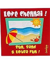 Chennai Gaga Silicone Beach-Red Fridge Magnet (8 cm x 8 cm x 8 cm)