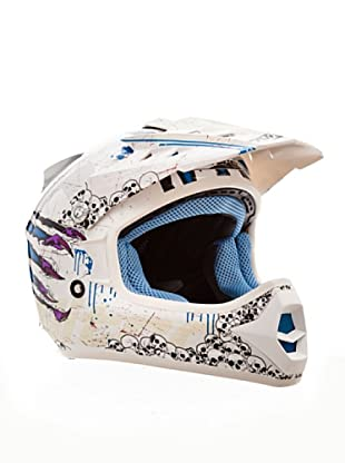 Nitro Casco Junior Claw (Blanco / Azul / Violeta)
