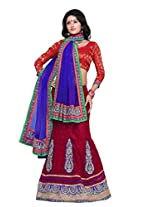 Surupta Red Coloured Self Design Women's Lehenga Choli