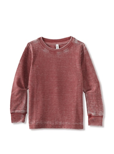 Colorfast Apparel Boy's Burnout Thermal (Red)