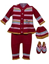 Amity Anchor Kids Warm Wear Set (AA14-15479_3-6 Months_Multi-Coloured)