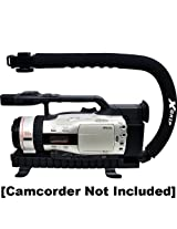 Opteka XGRIP-XL Large Professional Camera / Camcorder Action Stabilizing Handle with Accessory Shoe for Flash Mic or Video Light
