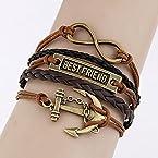 Habors Brown Multiband Best Friend Bracelet