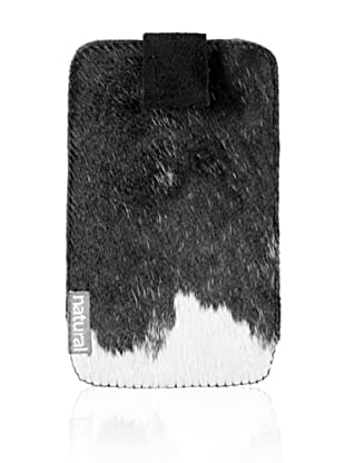 Natural iPhone Cowhide Case (Black/White)