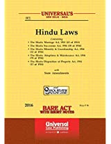Hindu Laws (Containing 5 Acts) 1. the Hindu Marriage Act, 1955 (24 of 1955), 2. the Hindu Succession Act, 1956 (30 of 1956), 3. the Hindu Minority & ... of Property Act, 1916 (15 of 1916)