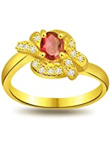 Suratdiamond: Diamond, Real Ruby 18kt Gold Ring