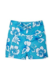 TroiZenfantS Boy's Hawaii Swim Trunks (Blue)