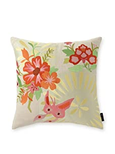 """emma at home Embroidered Linen Pillow, Joy, 20"""" x 20"""""""